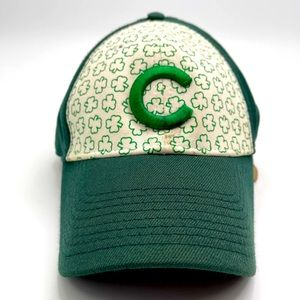 Cubs St Patrick's day embroidered baseball hat